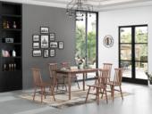 源木时光 北欧风格 北美进口白蜡木 1.4米餐桌