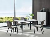 洛林菲勒 极简风格 碳素钢 大理石 餐台