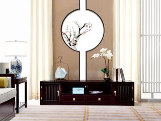 新中式 东南亚进口红檀木 K920 电视柜