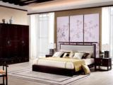 墨舍 新中式 东南亚进口红檀木 真丝靠包W976 1.8米床