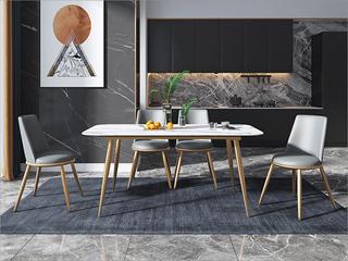 轻奢风格 不锈钢电镀脚 弯板 优质西皮餐椅(单把价格 需双数购买 单数不发货)