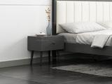 艺家 北欧风格 布纹铁灰 床头柜