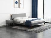 艺家 北欧风格 坚固实木框架 床头高度可调节 1.8m床