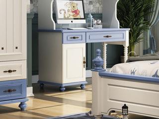 简美风格 优质橡胶木 环保健康 明朗天蓝 儿童书桌