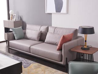 现代简约 科技布 松木底架 高弹海绵座包 九孔纤维棉靠包 灰色沙发 三人沙发