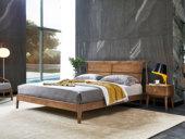 木之忆 北欧风格 北美进口白蜡木 简约线条 自然质朴 1.8*2.0m双人床