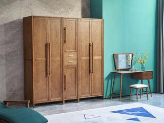 北欧风格 精选白蜡木 清晰木纹 沉稳大气 实木臻品 稳固承重 单门衣柜