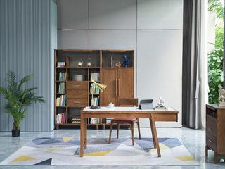 北欧风格 精选白蜡木 优雅木纹 臻品实木 岩板面书桌