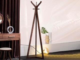 意式极简 优质胡桃木 稳定三角结构 衣帽架