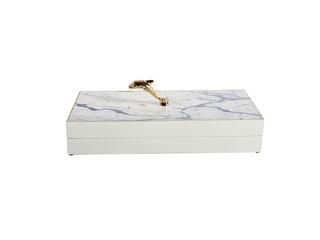 轻奢风格 铜+木盒 储物盒