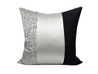 轻奢 肌理布 灰色、黑色、银色 花纹 抱枕