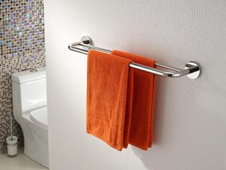 【包邮 快递到家(偏远地区除外)】 明锐系列304不锈钢卫浴挂件浴室挂件 毛巾双杆 毛巾置物架11302