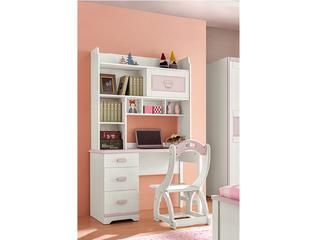 现代简约 主材樱桃木+白蜡木 大宝环保水性漆 全实木三抽直角书桌