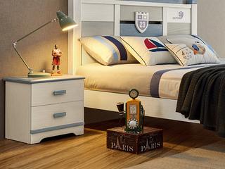现代简约 主材樱桃木+白蜡木 大宝环保水性漆 全实木床头柜