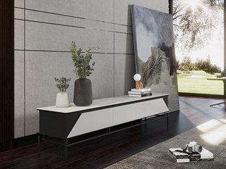 极简风格 2.0米 岩板+实木电视柜