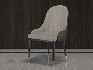 轻奢 环保纳帕皮/黒砂 餐椅