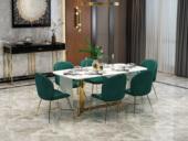 梵克美家 轻奢 大理石 2.2米 餐桌