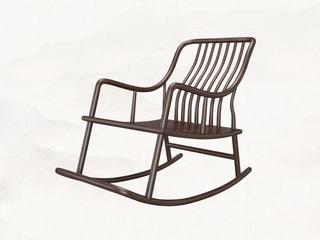 新中式 乌金木 JRZS-1001-摇椅