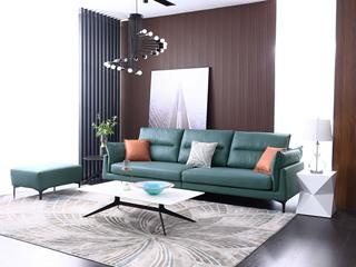 科技布 松木底架 现代简约 沙发组合(4人位+脚踏)