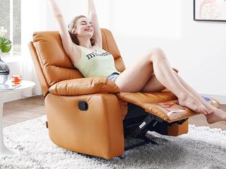 科技布 防水 头等舱 功能手动躺椅 爱马橙 单人沙发(此款不含抱枕)