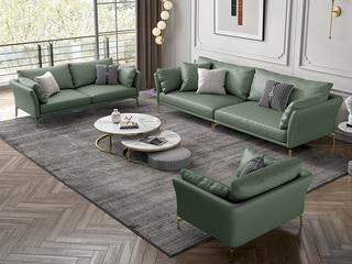 轻奢风格 优质科技皮沙发 双扶手两人位