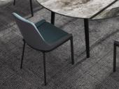 米勒 现代极简 皮艺 绿色餐椅