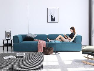 极简风格 鹿皮绒科技布 俄罗斯进口落叶松框架 四人位沙发