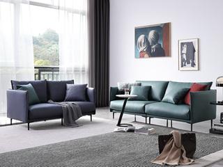 极简风格 科技布面料 俄罗斯进口落叶松框架 组合沙发(双人位+三人位)