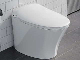 【包邮 送货到家】 智能马桶一体式智能坐便器 座圈加热 自动冲洗 通便功能 白色坐便器