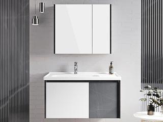【包邮 送货到家】 现代简约风格 双色撞色设计 多层防水板材 70CM 浴室柜套装(龙头需单独购买)