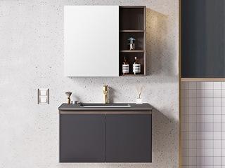 【包邮 送货到家】 现代简约风格 岩板台面 多层防水板材 80CM 浴室柜套装(龙头需单独购买)