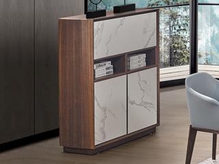 中式风格 岩板 白蜡木 餐边柜