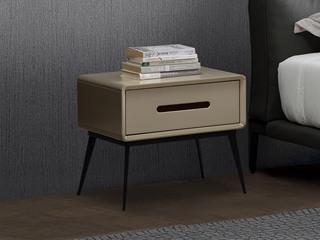 现代简约 碳素钢脚架 床头柜