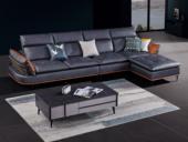 卡罗亚 极简风格 高弹坐感 超柔科技布+乳胶+羽绒 实木框架 左贵妃 转角沙发(靠头可调节)